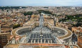 Flyg- sikt av Vatican City royaltyfria bilder