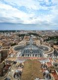 Flyg- sikt av Vatican City arkivbilder