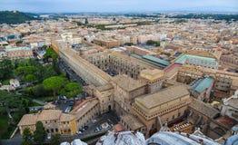 Flyg- sikt av Vatican City arkivfoton