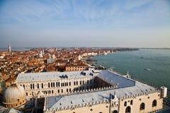 Flyg- sikt av Venedig Arkivfoton