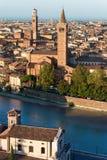 Flyg- sikt av Verona - Veneto Italien Royaltyfria Foton