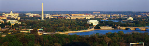 Flyg- sikt av Washington royaltyfria bilder
