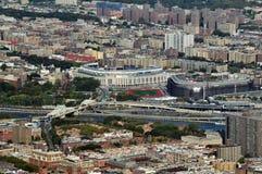 Flyg- sikt av Yankeesstadionen Royaltyfri Fotografi