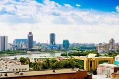 Flyg- sikt av Yekaterinburg på Juni 26, 2013 Royaltyfria Foton