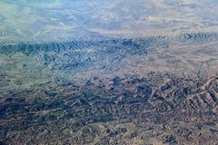 Flyg- sikt av Zagros berg, Iran Arkivbilder