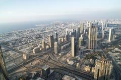 Flyg- sikt Dubai royaltyfri foto