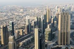 Flyg- sikt Dubai Royaltyfri Bild