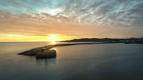 flyg- sikt DunLaoghaire fyr dublin ireland Fotografering för Bildbyråer