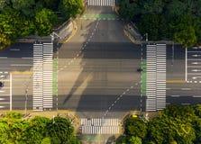 Flyg- sikt en övergångsställe royaltyfri foto