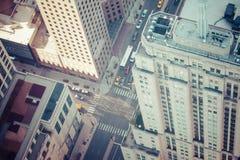 Flyg- sikt för Chicago horisont Arkivfoto