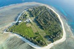 Flyg- sikt för dam Elliot Island Arkivfoton