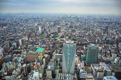 Flyg- sikt för den Tokyo metropolisen, Japan Arkivbild