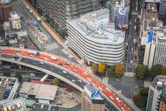 Flyg- sikt för den Tokyo metropolisen, Japan Fotografering för Bildbyråer