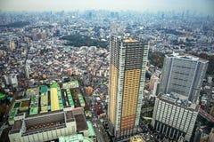Flyg- sikt för den Tokyo metropolisen, Japan Royaltyfria Foton