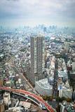Flyg- sikt för den Tokyo metropolisen, Japan Arkivfoton