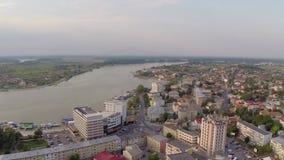 Flyg- sikt för Donau stock video