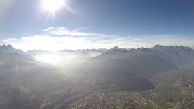 flyg- sikt för fjällängar 360°+ Arkivfoto