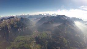 flyg- sikt för fjällängar 360°+ Royaltyfri Fotografi