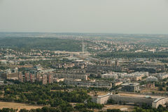 Flyg- sikt för horisont - stadslandskap Arkivfoton