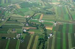 Flyg- sikt för jordbruksmark Royaltyfria Foton