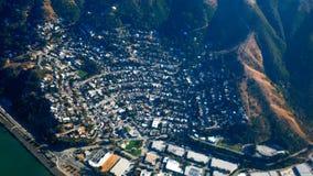 Flyg- sikt för Kalifornien stad royaltyfri foto
