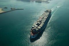 Flyg- sikt för lastfartyg Royaltyfria Bilder