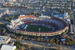 Flyg- sikt för Los Angeles Coliseum fotografering för bildbyråer