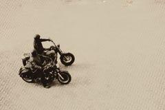 Flyg- sikt för motorcyklar arkivbild