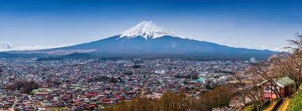 Flyg- sikt för panorama av mt fuji japan mt Royaltyfria Bilder
