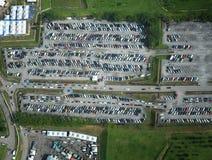 Flyg- sikt för parkeringsplats Fotografering för Bildbyråer