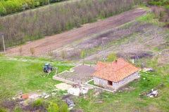 Flyg- sikt för ranch Arkivfoton