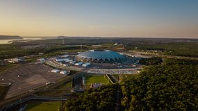 Flyg- sikt för stadion fotografering för bildbyråer