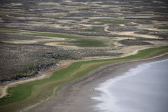 Flyg- sikt för våtmarker Fotografering för Bildbyråer