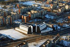 Flyg- sikt för Vilnius stad Arkivfoton