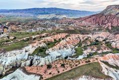 Flyg- sikt från Cappadocia, Turkiet Royaltyfria Foton
