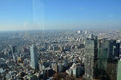 Flyg- sikt från den Tokyo staden japan Arkivbild