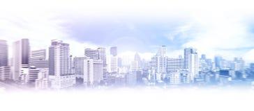 Flyg- sikt för Bangkok affärsstad Arkivfoto