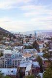 Flyg- sikt Georgia för Tbilisi centrum Arkivbilder