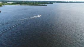 Flyg- sikt hål för sjösimning lager videofilmer