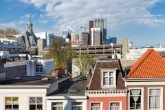 Flyg- sikt Haag med några stora kontorsbyggnader Royaltyfri Bild