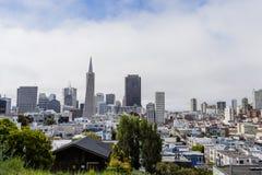 Flyg- sikt/horisont av city av San Francisco Arkivbilder