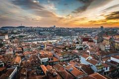 Flyg- sikt i Porto Royaltyfri Fotografi