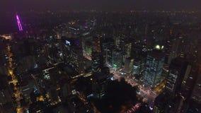 Flyg- sikt i Sao Paulo City _ arkivfilmer