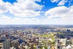 Flyg- sikt (i stadens centrum Chicago) arkivbild