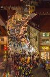 Flyg- sikt-Jultid-Nuremberg-Tyskland Arkivbilder