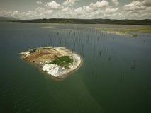 Flyg- sikt kanal av Gatun för sjön, Panama royaltyfri bild