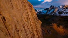 Flyg- sikt, Lofoten öar, Reine, Norge Arkivfoto