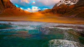 Flyg- sikt, Lofoten öar, Reine, Norge Royaltyfria Bilder