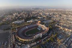Flyg- sikt Los Angeles för minnes- Coliseum royaltyfria bilder
