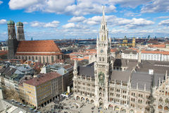 Flyg- sikt Munich Arkivbild